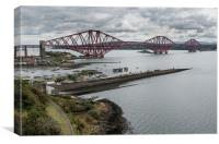 Forth Rail Bridge from North Queensferry, Canvas Print