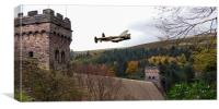 Canadian Lancaster VR-A at the Derwent Dam, Canvas Print
