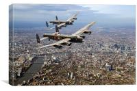 Two Lancasters over London, Canvas Print