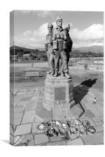 Commando Memorial, Spean Bridge black and white, Canvas Print