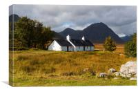 Black Rock Cottage Rannoch Moor, Canvas Print