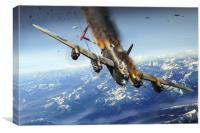 Berchtesgaden Lancaster F for Freddy, Canvas Print
