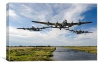 Dambusters practising low level flying, Canvas Print