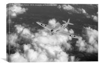 Supermarine Spitfire prototype K5054 black and whi, Canvas Print