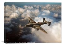 Handley Page Halifax above clouds, Canvas Print