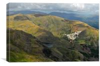 Vulcan low-level in the Lakes, Canvas Print