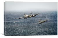 Mosquito fighter bombers over the North Sea, Canvas Print