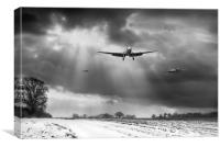 Winter homecoming, B&W version, Canvas Print