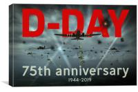 D-Day 75th poster, Canvas Print