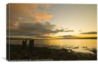 Sunset over Kingoodie Bay, Invergowrie, Canvas Print