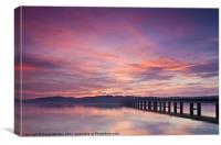River Tay Sunrise Dundee 3, Canvas Print