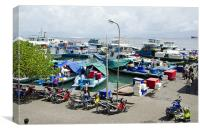 busy harbor of Male' Maldives, Canvas Print