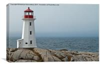 Peggy's Cove Lighthouse, Nova Scotia, Canada., Canvas Print