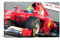 Felipe Massa 2012 Spain, Canvas Print