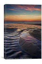 Whitesands Bay Sunset, Canvas Print