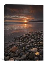 'Pebbles', Newgale Sands, Canvas Print