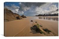 North Beach Tenby, Canvas Print