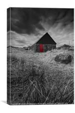 The Red Barn Door, Isle of Skye, Scotland, Canvas Print