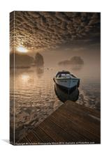 Llangorse Lake misty dawn, Canvas Print