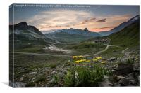 French Alps on the GR5, Canvas Print