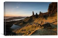 The Old Man of Storr at Dawn, Canvas Print
