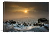 Sugar Loaf Winter Sunset, Brecon Beacons, Canvas Print