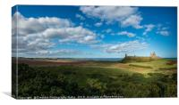 Dunstanburgh Castle on the Northumberland Coast, Canvas Print