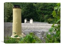 cottage roofs, Canvas Print