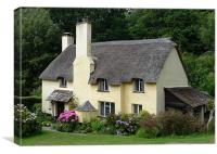 Selworthy Cottage, Canvas Print