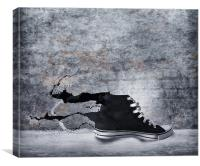 Shoe Splashing, Canvas Print