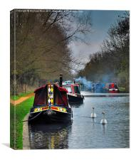 Winter On The Kennet & Avon, Canvas Print