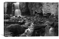 Lumsdale Waterfall, Derbyshire, Canvas Print