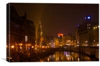 Singel at night, Canvas Print
