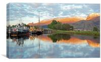 Corpach, Nevis mountain range, Canvas Print