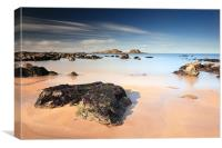 Yellowcraigs beach, Canvas Print