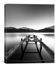Loch Lomond Jetty, Canvas Print