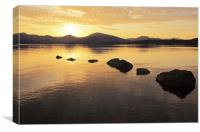 Loch Lomond golden Sunset, Canvas Print