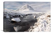 Glencoe winter scenery, Canvas Print
