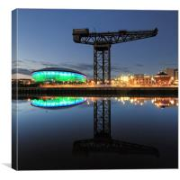 Glasgow Hydro and Finnieston Crane, Canvas Print