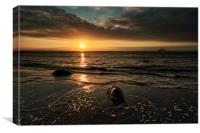 Lendalfoot Sunset, Canvas Print
