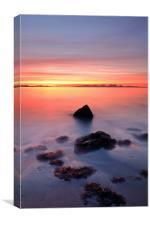 Coastal Sunset Kintyre, Canvas Print