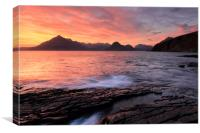 Elgol Sunset - Isle of Skye 2, Canvas Print