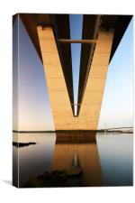 Under the Queensferry Crossing Bridge, Canvas Print