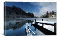 Loch Ard in Winter, Canvas Print
