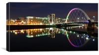 Glasgow Clyde Arc Bridge at Twilight, Canvas Print