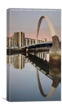 Glasgow Clyde Arc Bridge at Sunset, Canvas Print