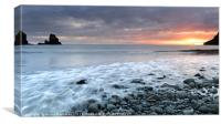Incoming Tide at Sunset by Talisker Bay, Canvas Print