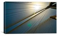 Gleam of the cables, Canvas Print