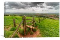 Raddon Hill, Devon., Canvas Print