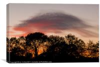 Lenticular Sunset, Canvas Print
